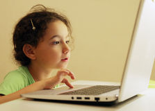 Girl facing Royalty Free Stock Images