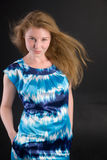 Girl with a fair hair Royalty Free Stock Photo