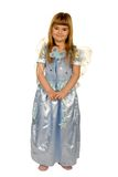 Girl in a fairy costume. Aainst white background royalty free stock photos