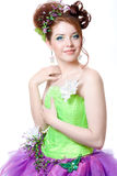 Girl in fairy costume Stock Photo