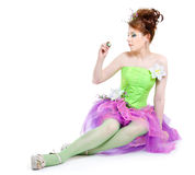 Girl in fairy costume Stock Photography