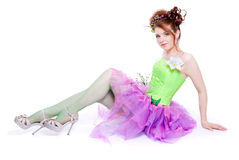 Girl in fairy costume Royalty Free Stock Photo