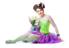 Girl in fairy costume Stock Image