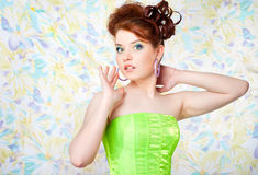 Girl in fairy costume Stock Images