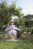 Girl In Fairy Costume At The Garden Stock Photo