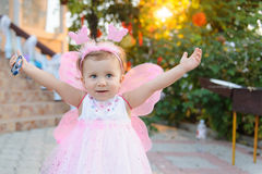 Girl in Fairy Dress Royalty Free Stock Photos