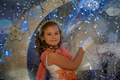Girl  in the fairy forest Royalty Free Stock Photography