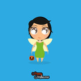 Girl With Fairy Halloween Costume Isolated Royalty Free Stock Photography