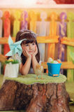 Girl in a fairy tale Stock Photo