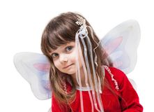 Girl with fairy wings and wand Royalty Free Stock Photography