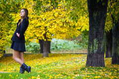 Girl fall Stock Photography