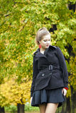 Girl fall Stock Images