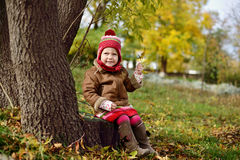 Girl in fall Royalty Free Stock Images