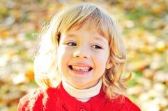 Girl in fall Stock Photo