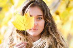 Girl in fall Stock Photos