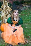 Girl Fall Witch stock photos