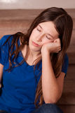 Girl falling asleep Royalty Free Stock Photo