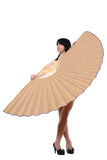 The girl with a fan Stock Photography