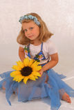 The girl in a fancy dress of t Royalty Free Stock Photos