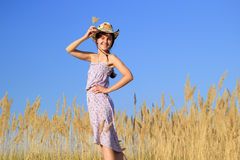 Girl at the farm Stock Photography
