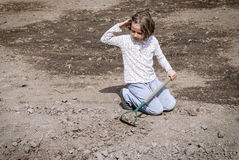 Girl farming Royalty Free Stock Photos