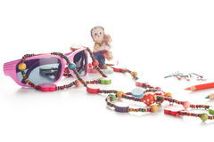 Girl fashion accessories Stock Images