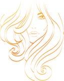 Girl fashion. Beautiful woman with long hair Stock Photo