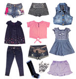 Girl fashion bright clothes. Royalty Free Stock Image