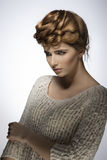 Girl with fashion elegant hair-style Royalty Free Stock Photo