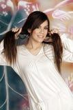 girl fashion long hair Stock Photography
