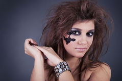 Girl with fashion make-up Royalty Free Stock Images