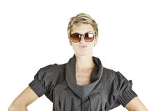 Girl fashion portrait with sunglasses Stock Photo