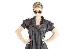 Girl fashion portrait with sunglasses Stock Photo