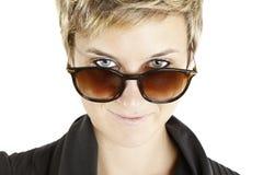 Girl fashion portrait with sunglasses Stock Photos