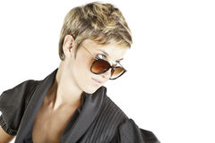 Girl fashion portrait with sunglasses Stock Images