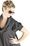 Girl fashion portrait with sunglasses Royalty Free Stock Photos