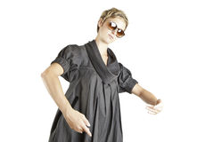 Girl fashion portrait with sunglasses Royalty Free Stock Images
