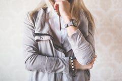 Girl Fashion Pose Stock Images