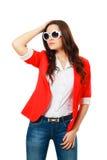 Girl in fashion stylish sunglasses Royalty Free Stock Photo