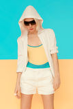 Girl in fashionable sportswear. Bright colors of the season Stock Photos
