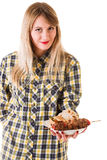 Girl with fast food Stock Image