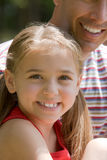 Girl with father Stock Photos
