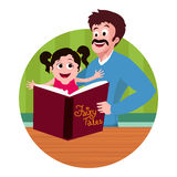 Girl with father for Father's Day celebration. Stock Photo