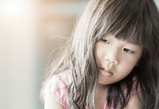 Girl feeling sad or lonely Royalty Free Stock Photo