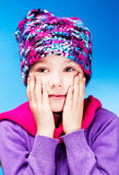 Girl feels cold Stock Image