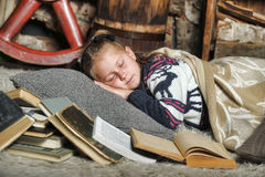 Girl fell asleep Royalty Free Stock Photo