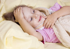 The girl fell ill Royalty Free Stock Photos