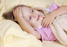 The girl fell ill Royalty Free Stock Photos