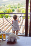 Girl at Fence Royalty Free Stock Photography