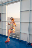 Girl on a Ferry Royalty Free Stock Images